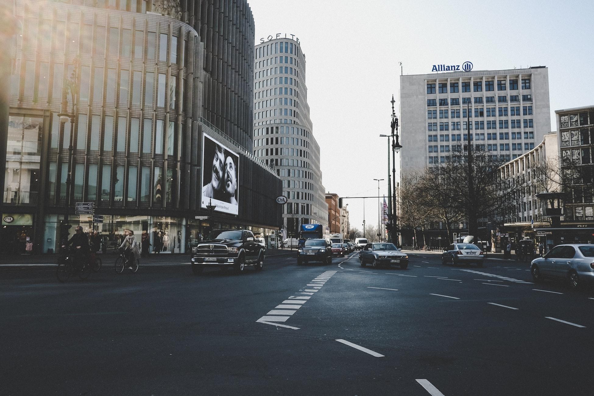 Движение на улицах Германии