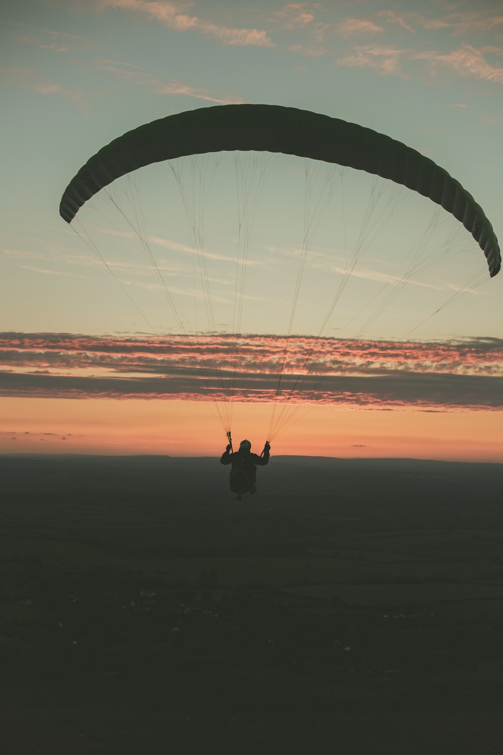 paragliding on mid air