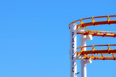 roller coaster under blue sky rollercoaster zoom background