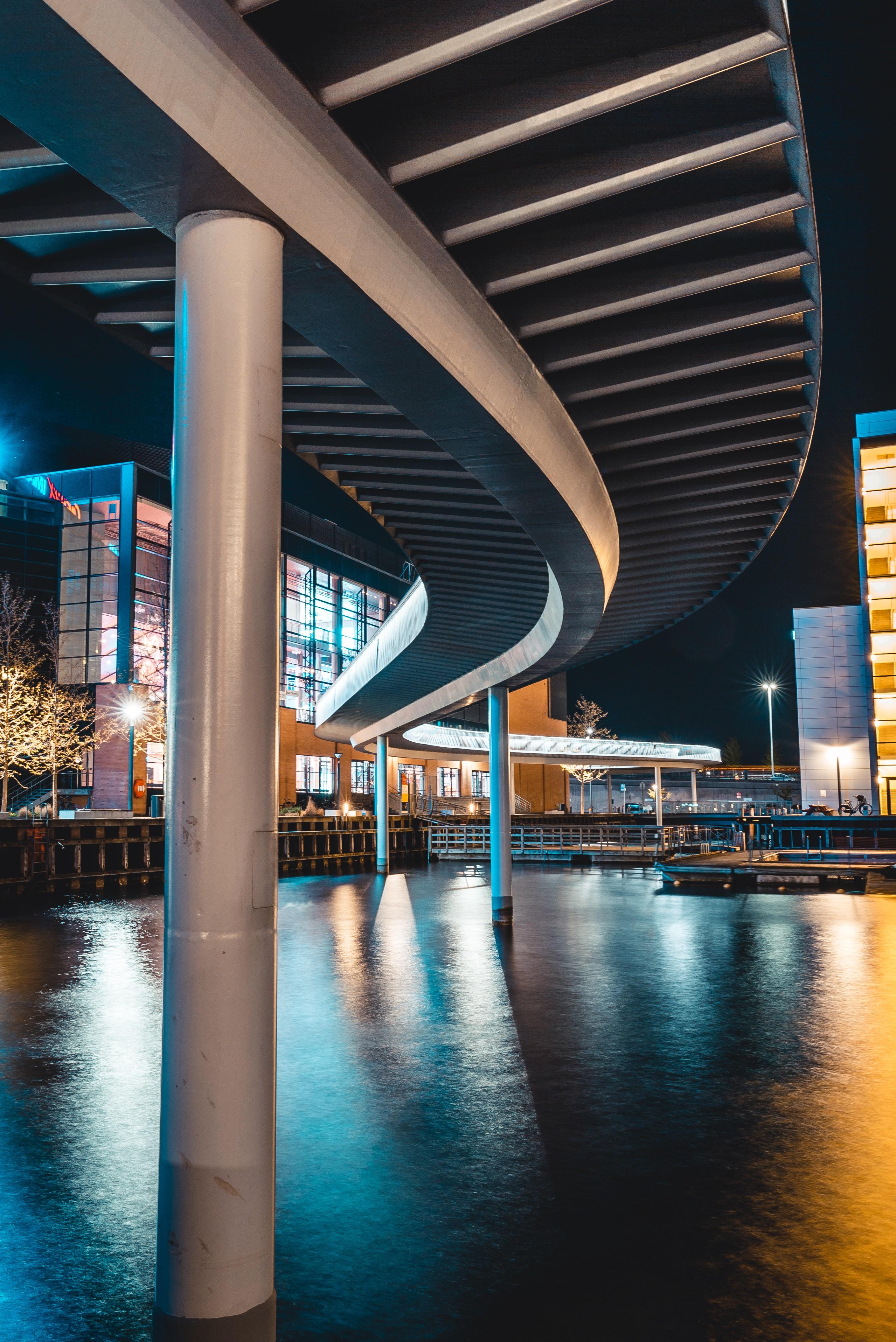 nighttime scenery of buildings