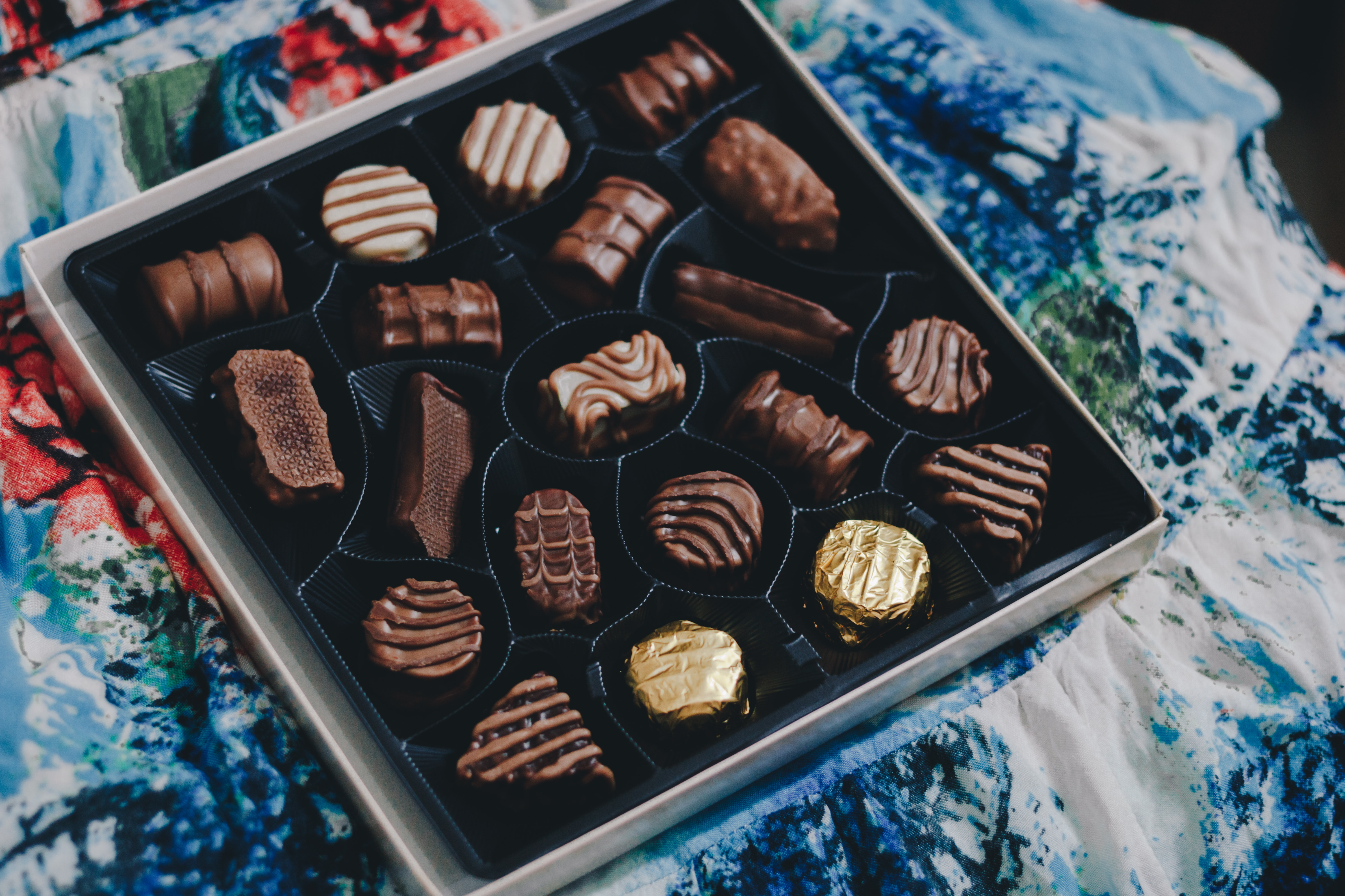 tray of chocolates
