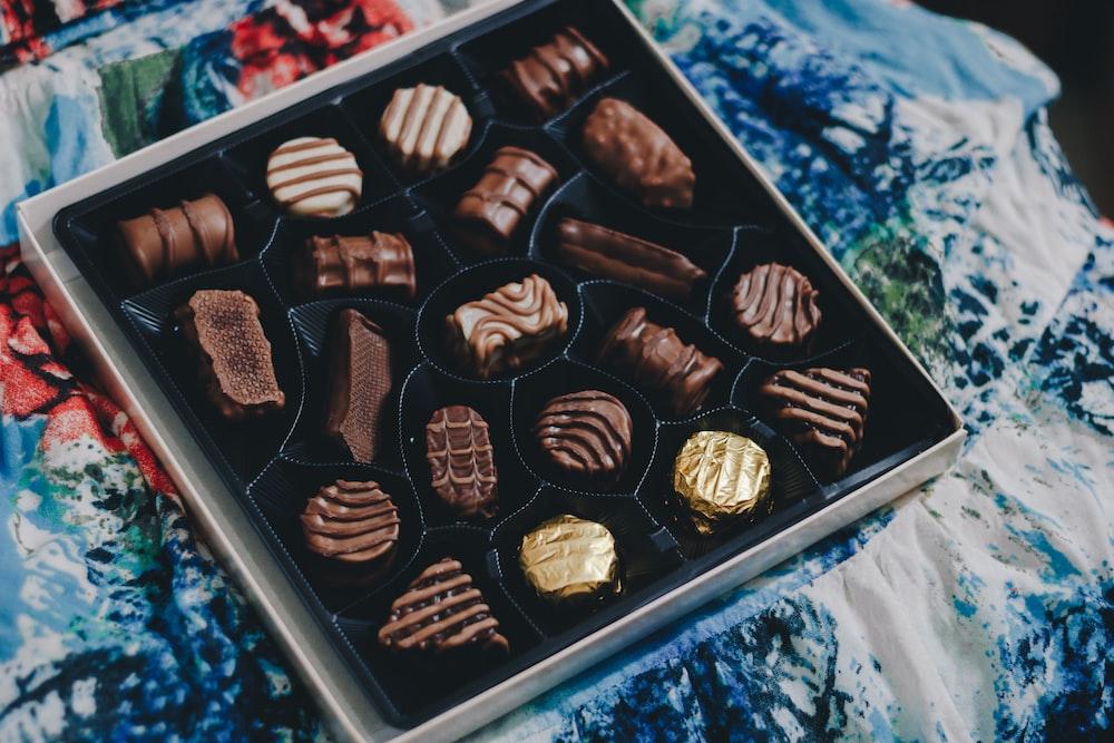 tray of chocolates