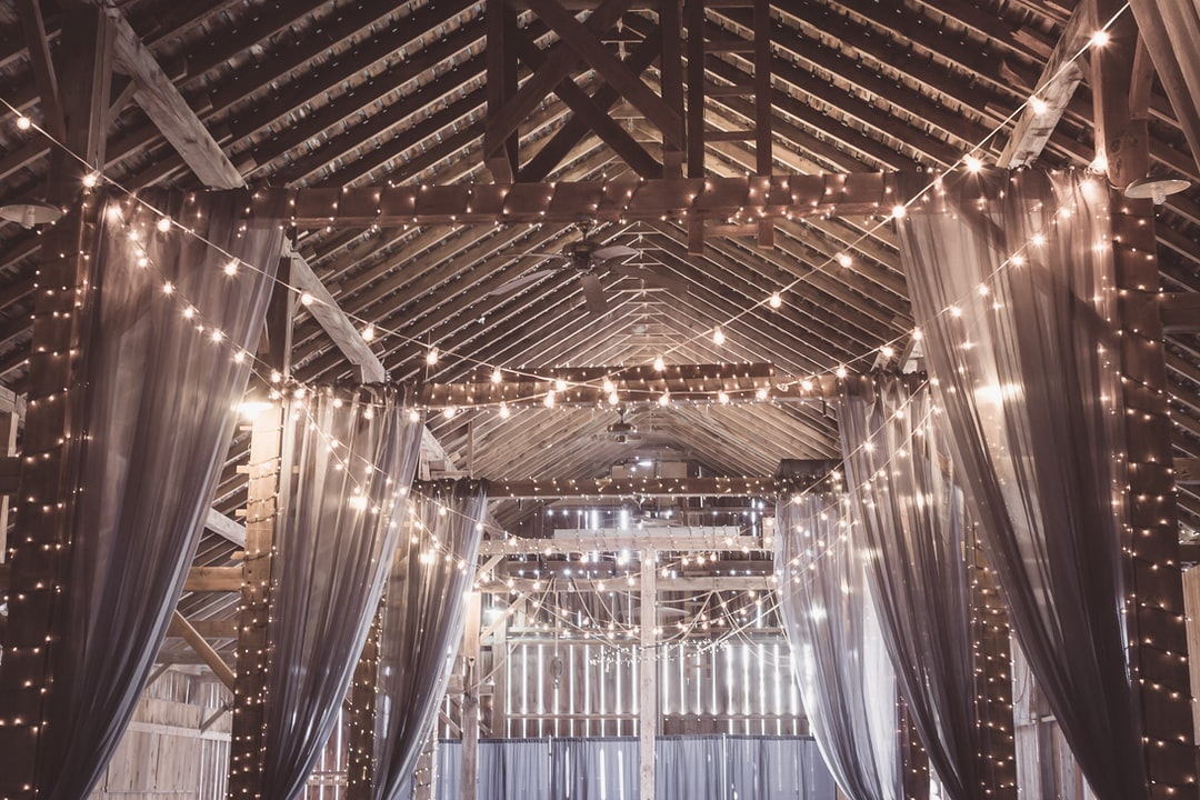 An old barn where my niece got married, where rustic meets modern