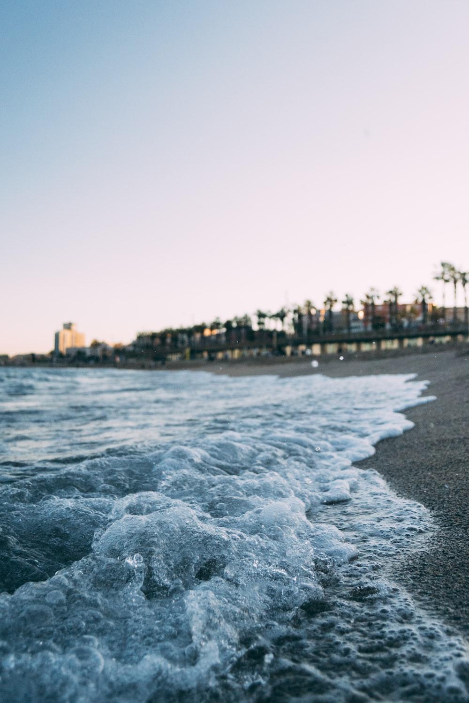waves in the seashore