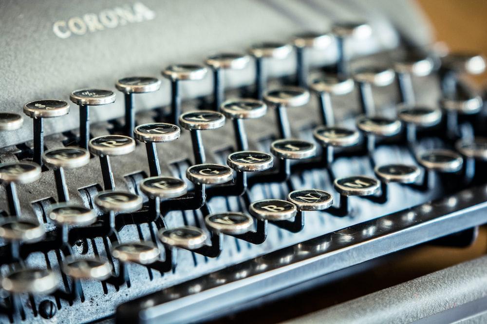 black Corona typewriter