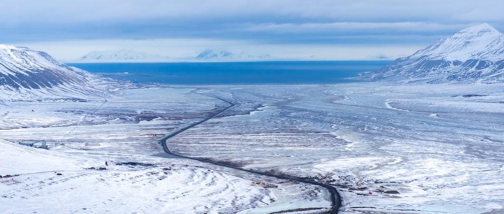 high angle photo of landscape