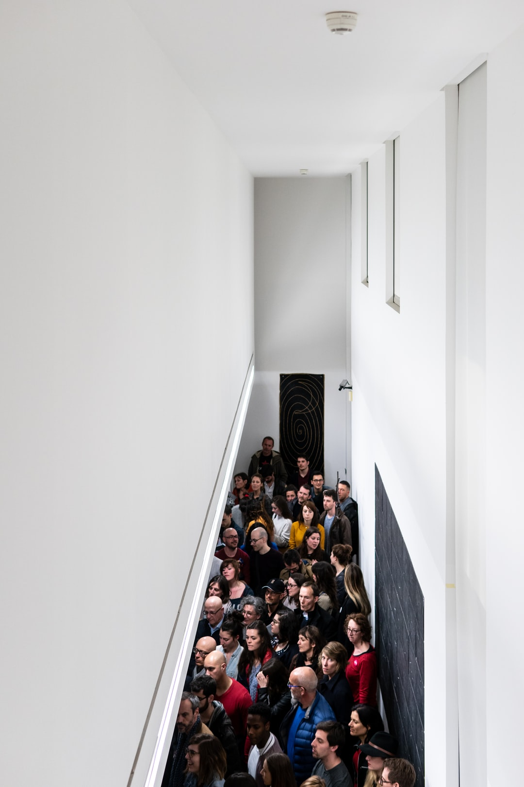 Crowd at a museum