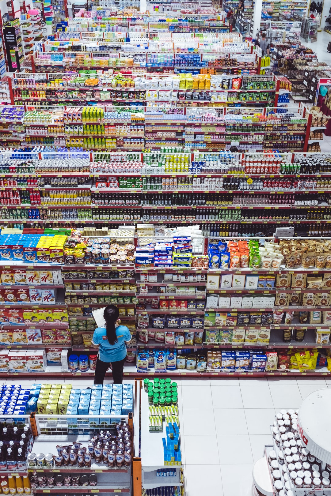 Big market in Ubud, Indonesia