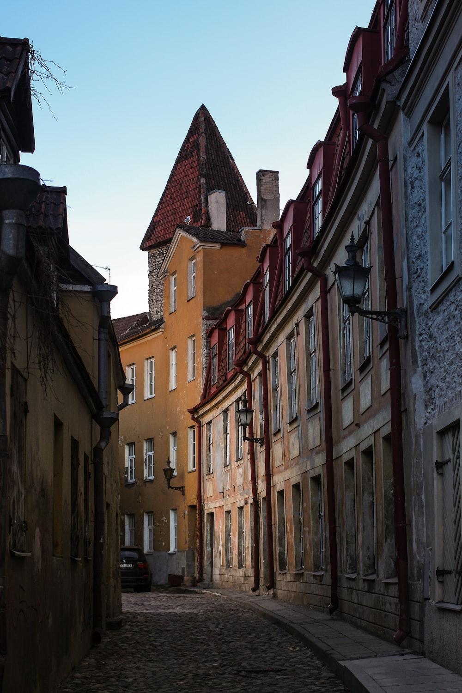 photography of empty narrow street