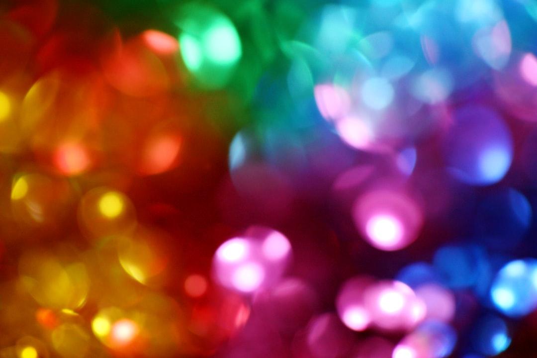 Bokeh abstract colorful LGBTQ wallpaper.