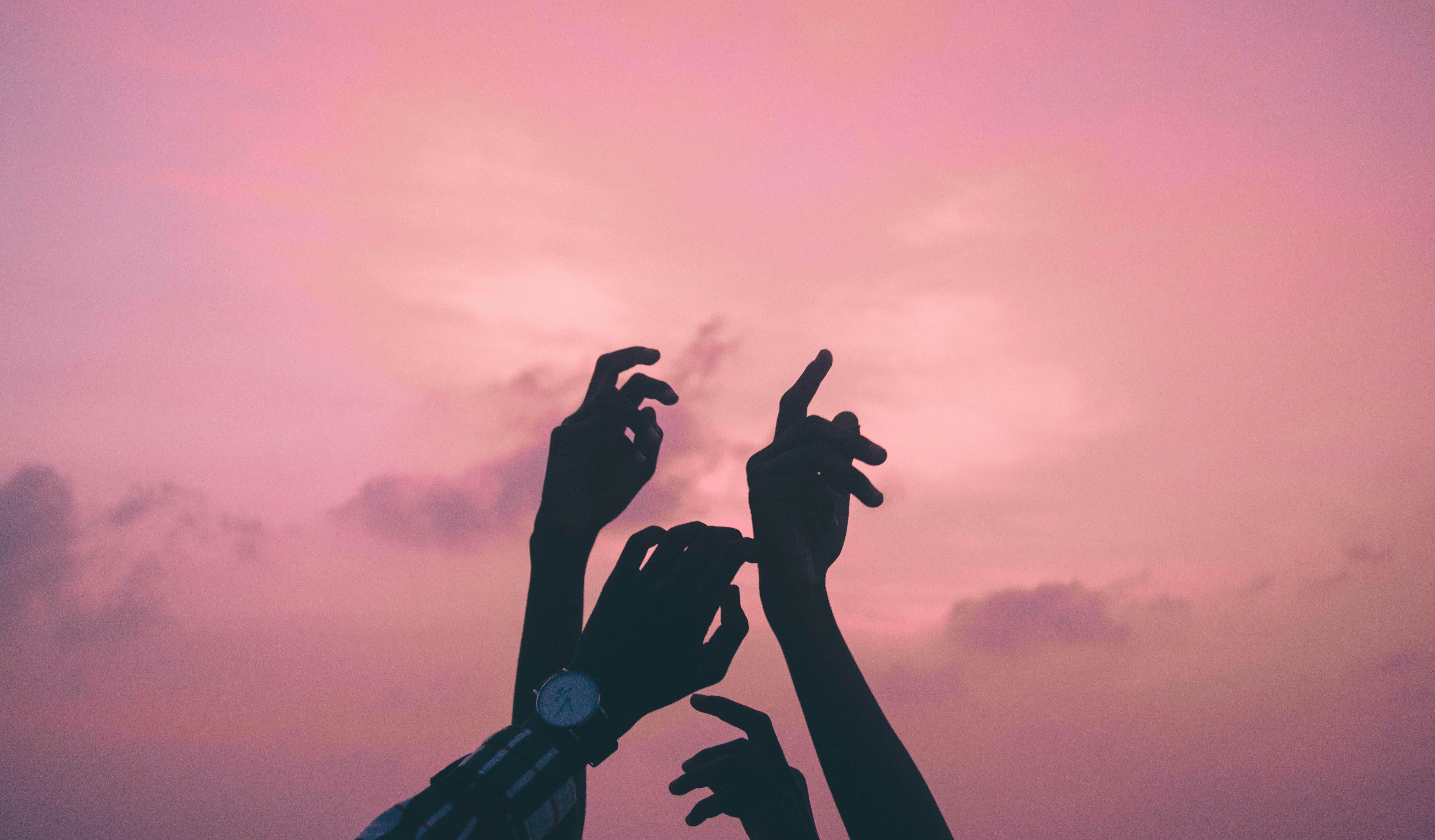 persons hand up photo