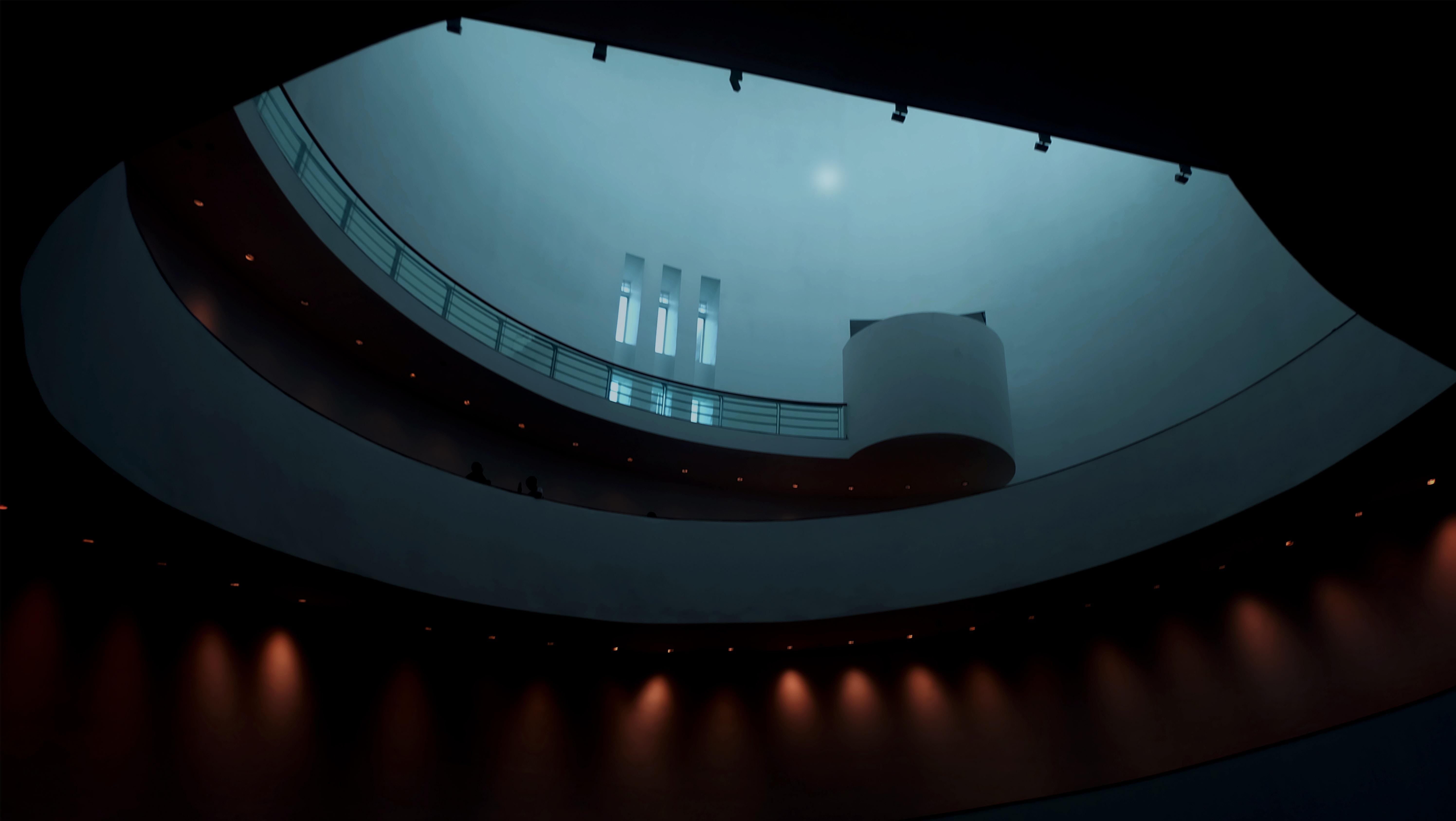gray interior building