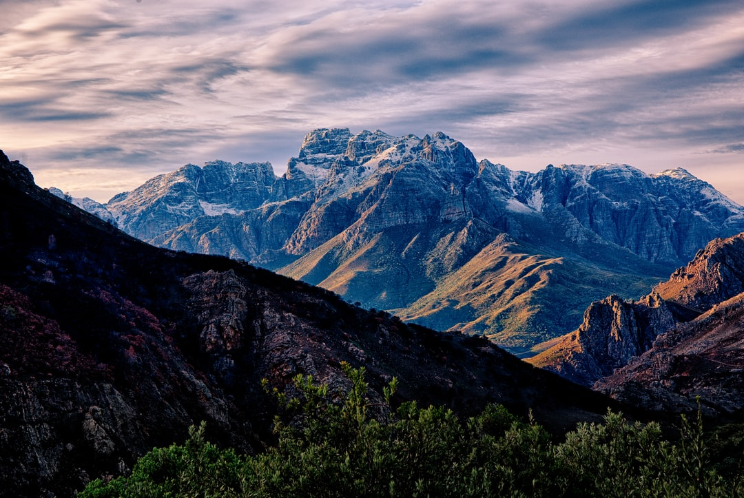 At first light of day on the way to Oudtshoorn from Stellenbosch, we almost drove our car in the ditch seeing this incredible mountain range. We barely managed to stop on the roadside to take some quick snaps, risking our lives with trucks speeding by in the downhill part of the pass.