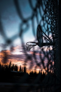 basketball ring on wall