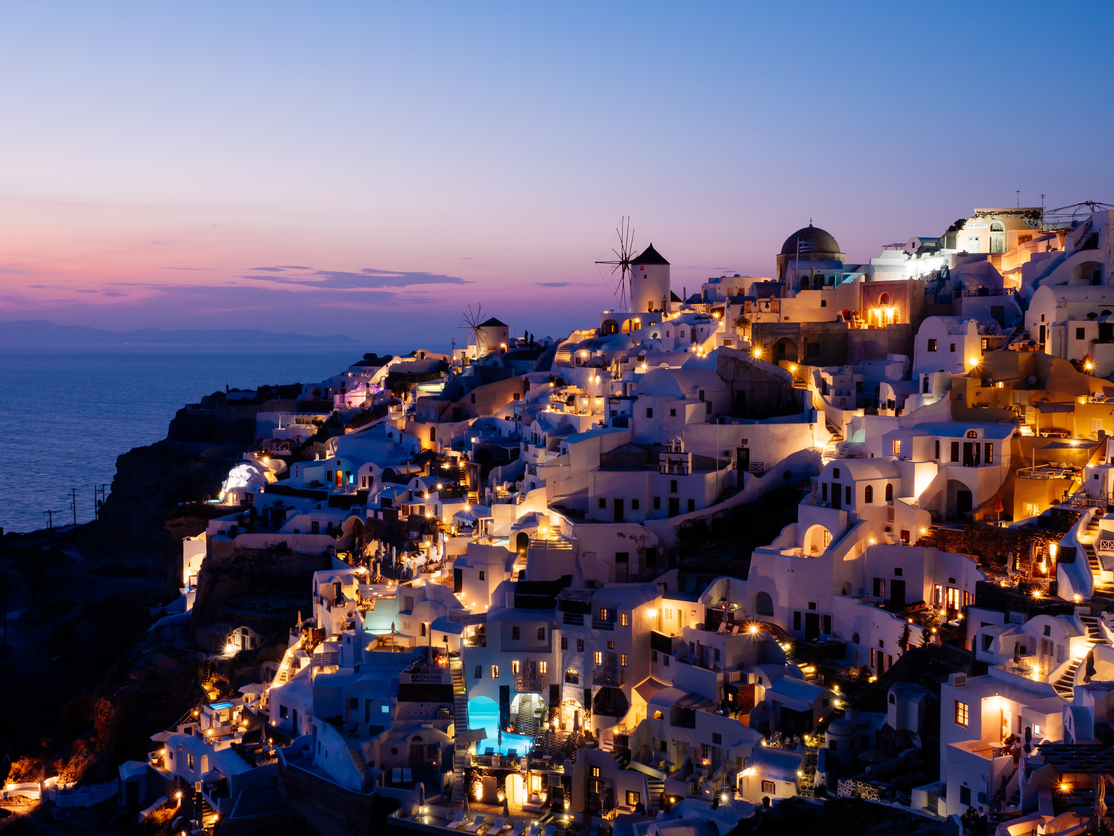 Santorini during sunset