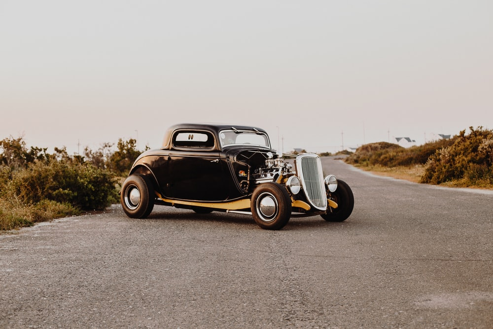 classic car on pavement