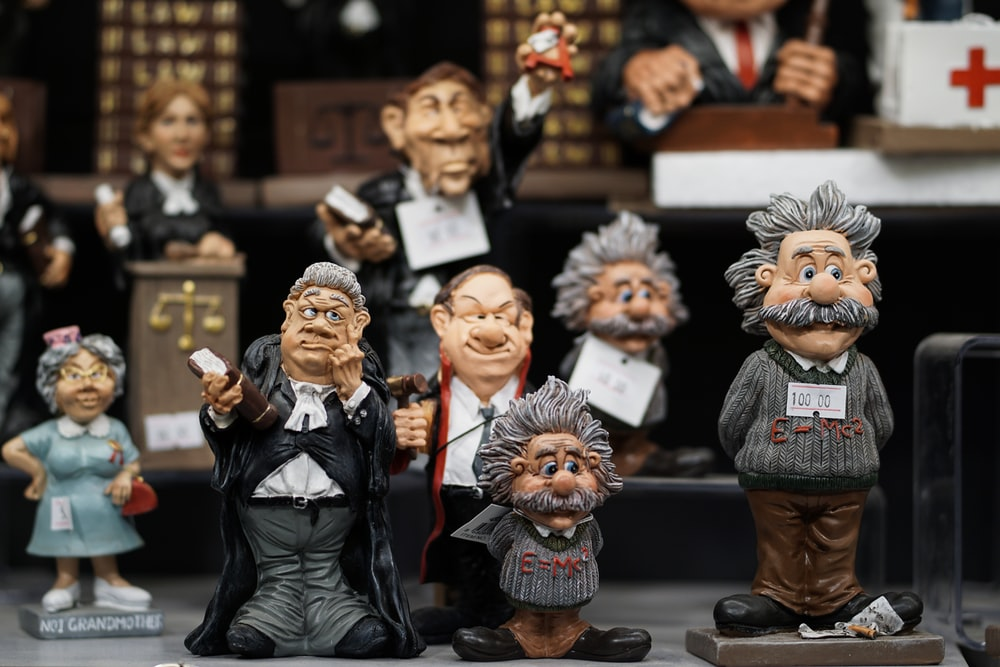 assorted ceramic figurines