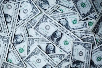 散りばめられた1ドル札