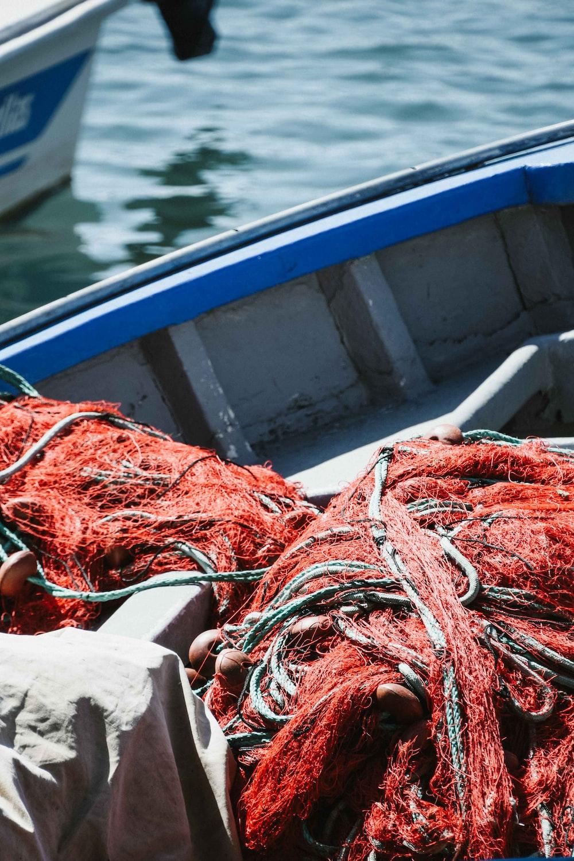 red fishing net