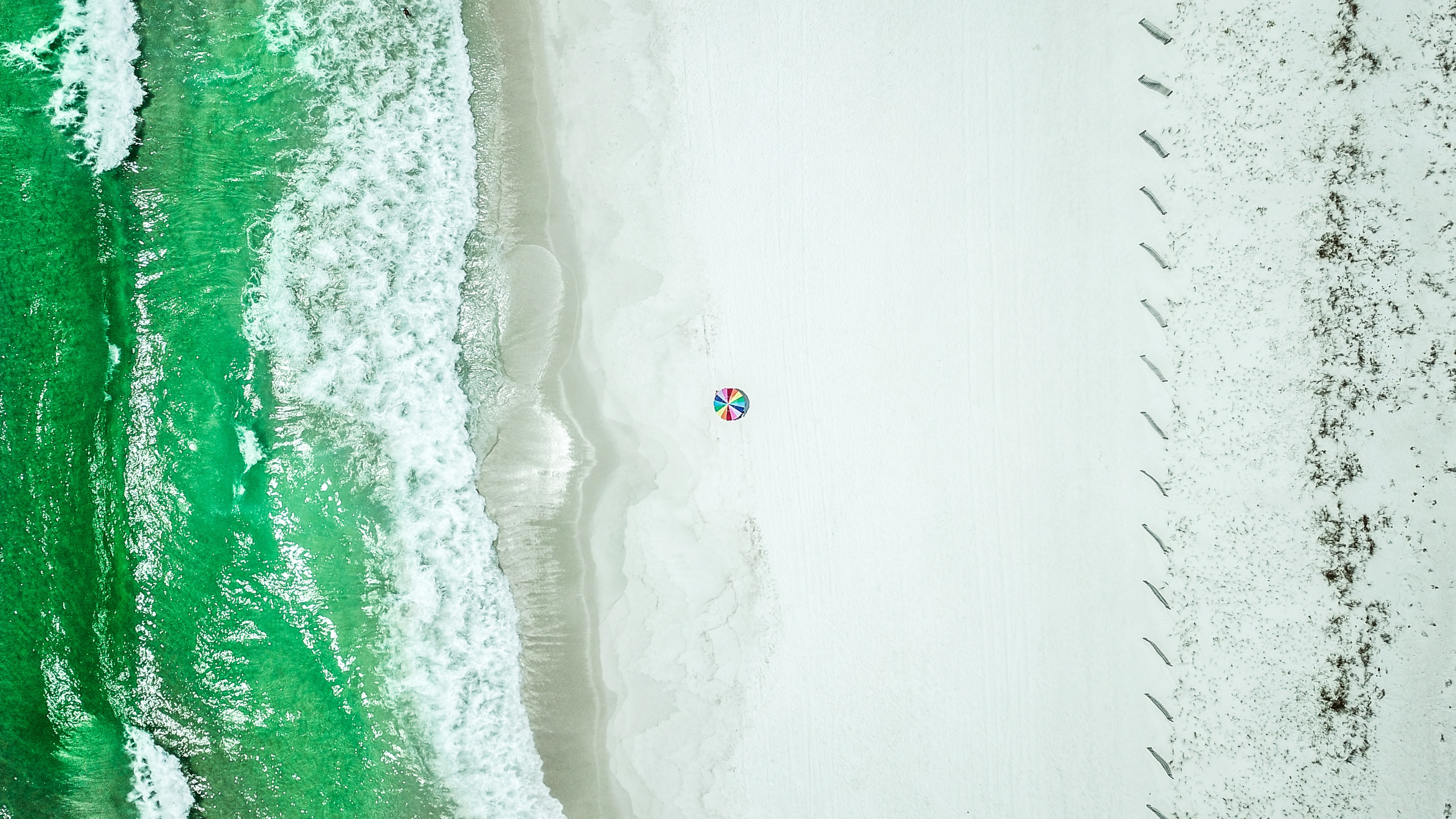 aerial photography of shoreline
