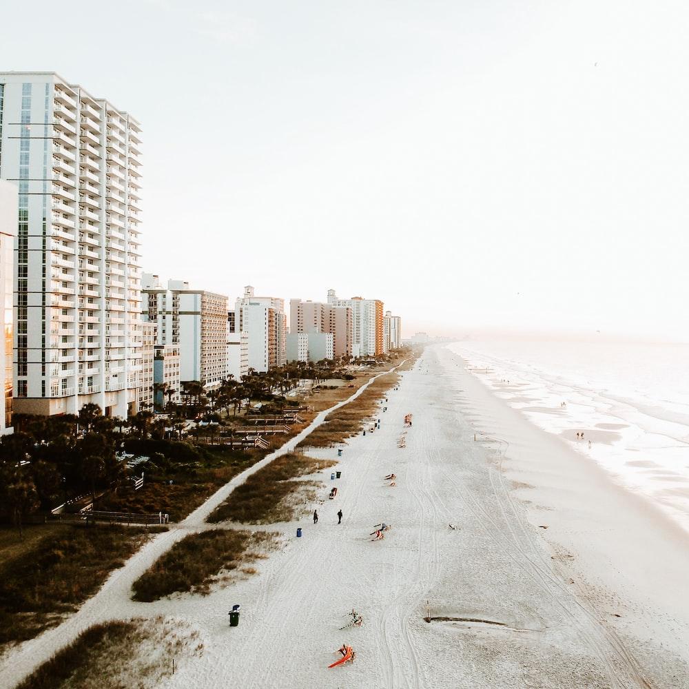 bird's-eye view of beach line