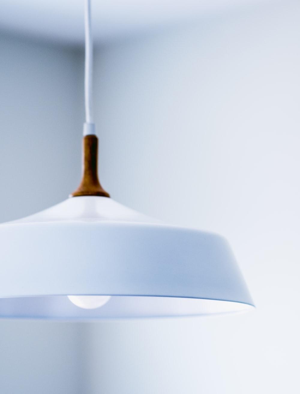 white glass pendant lamp