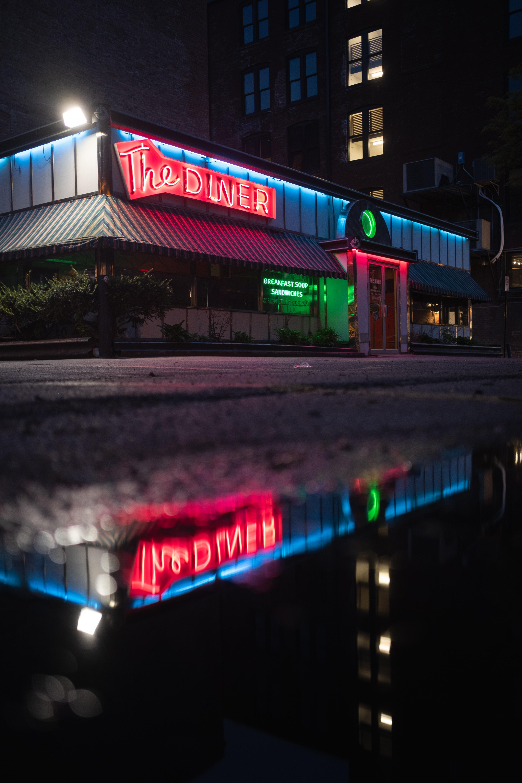 The Diner lighted signage