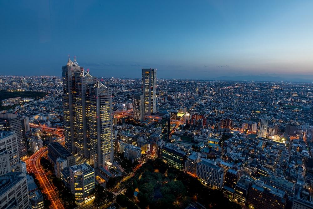 bird's eye view of cityscape