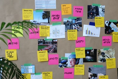 sticky notes creative zoom background