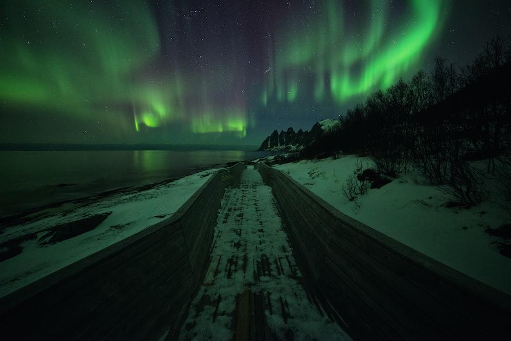Aurora Borealis beach