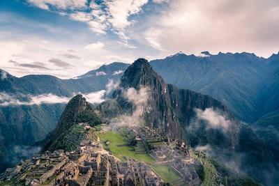mountain with clouds peru zoom background