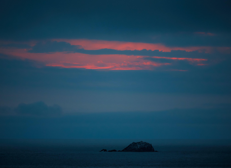island during sunset