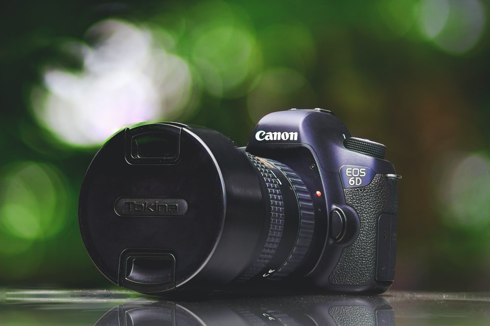 shallow focus photography of black Canon EOS 5D