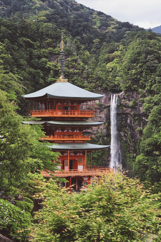 orange and gray pagoda