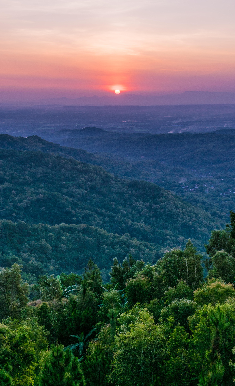 sunrise view on mountain