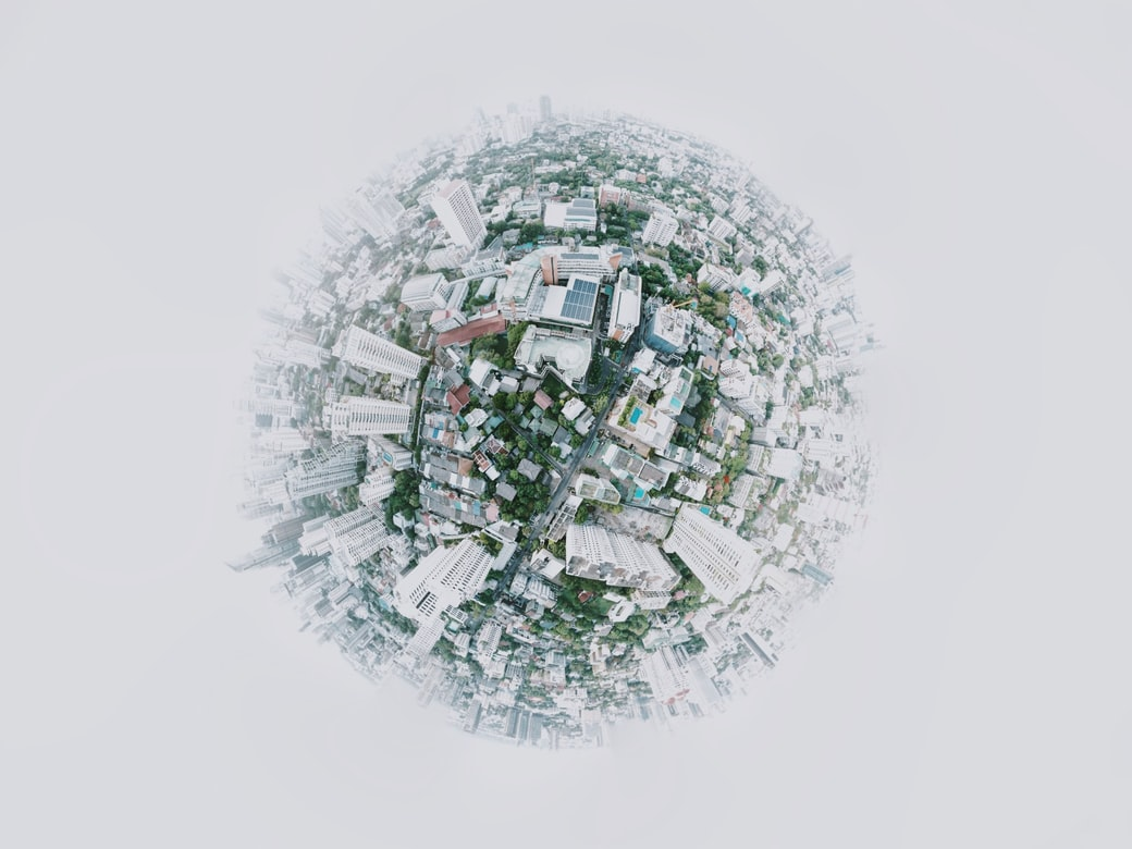 Fisheye Photography of City Photo