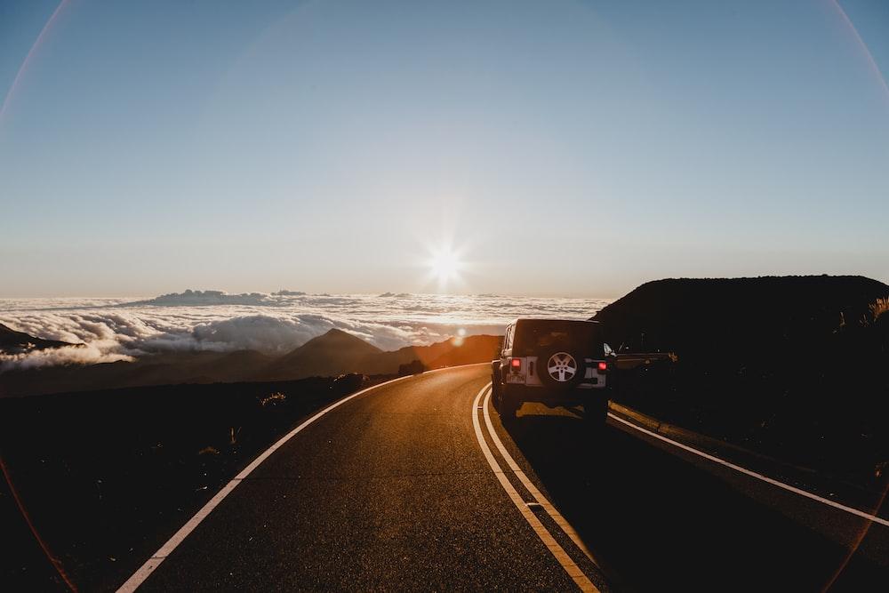 SUV passing road