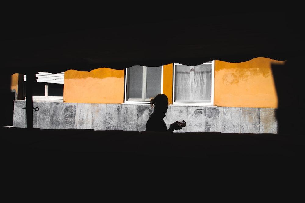 silhouette of person