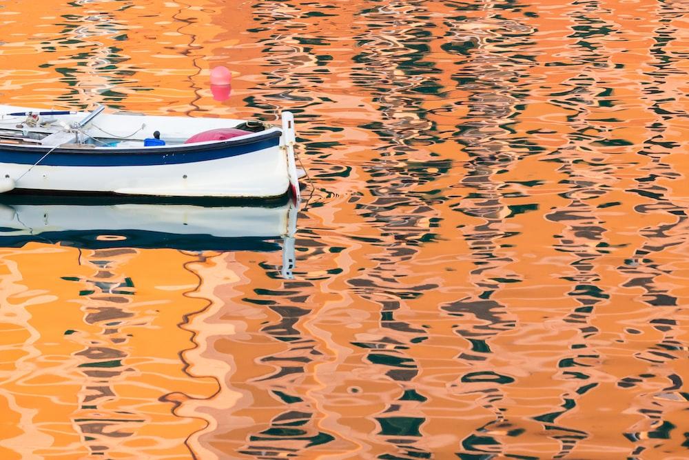 white canoe