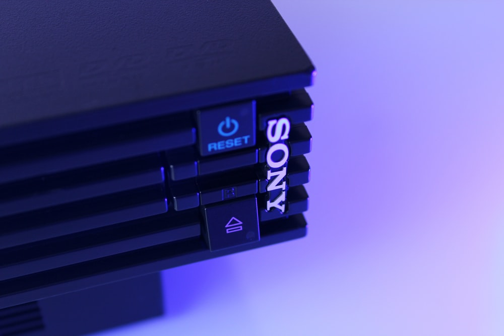 black Sony game console