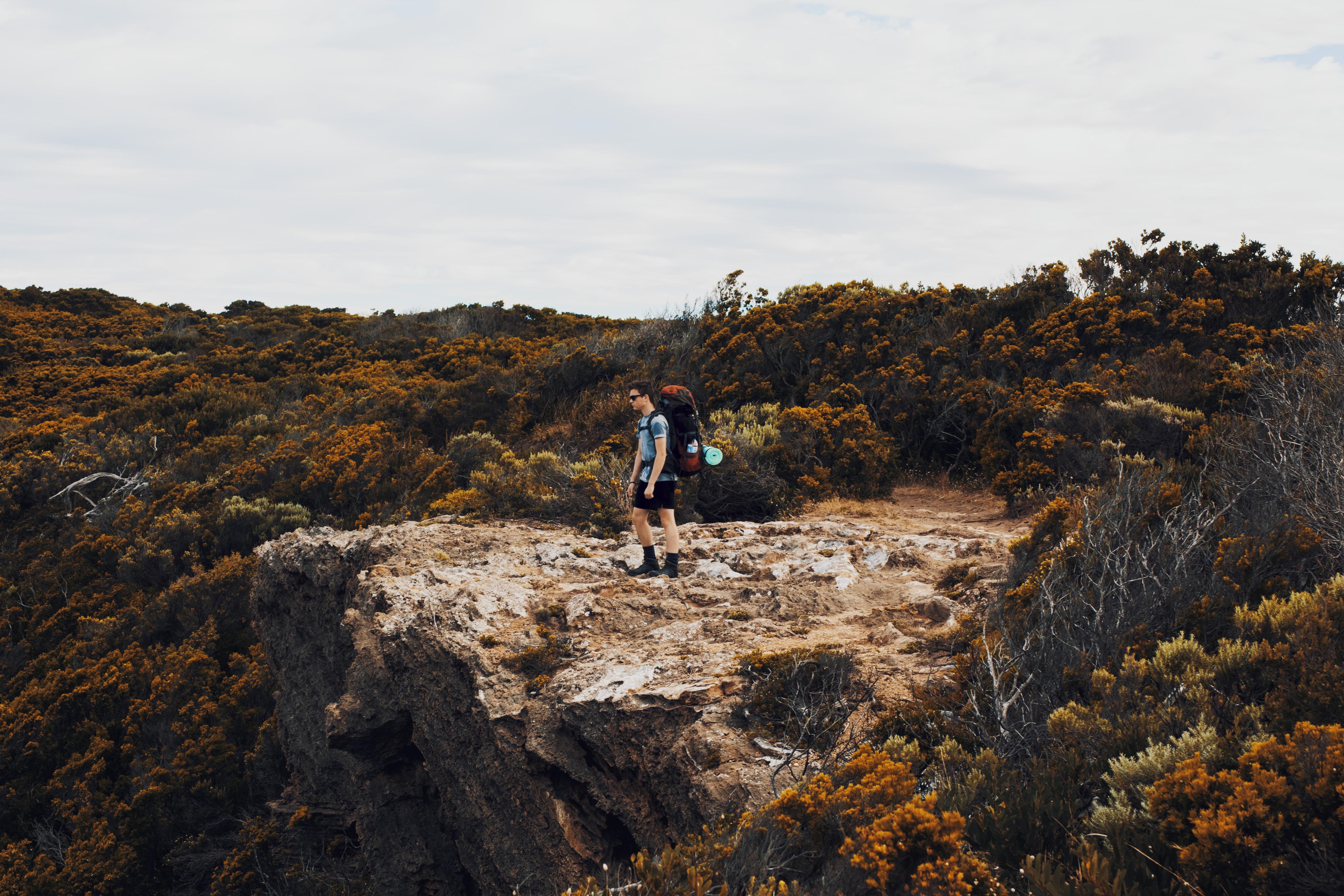 man on top of landscape