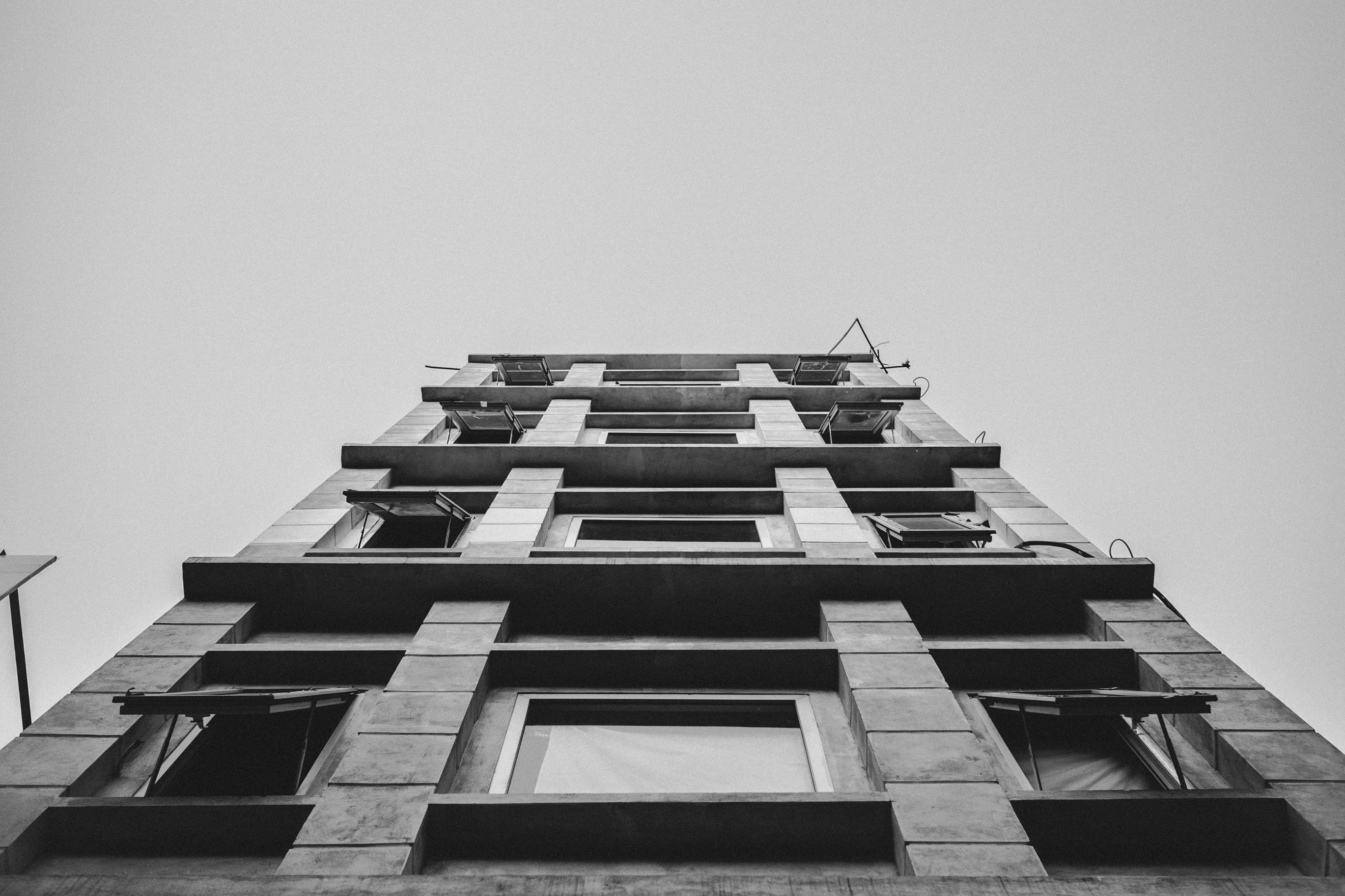 worms eye view on building