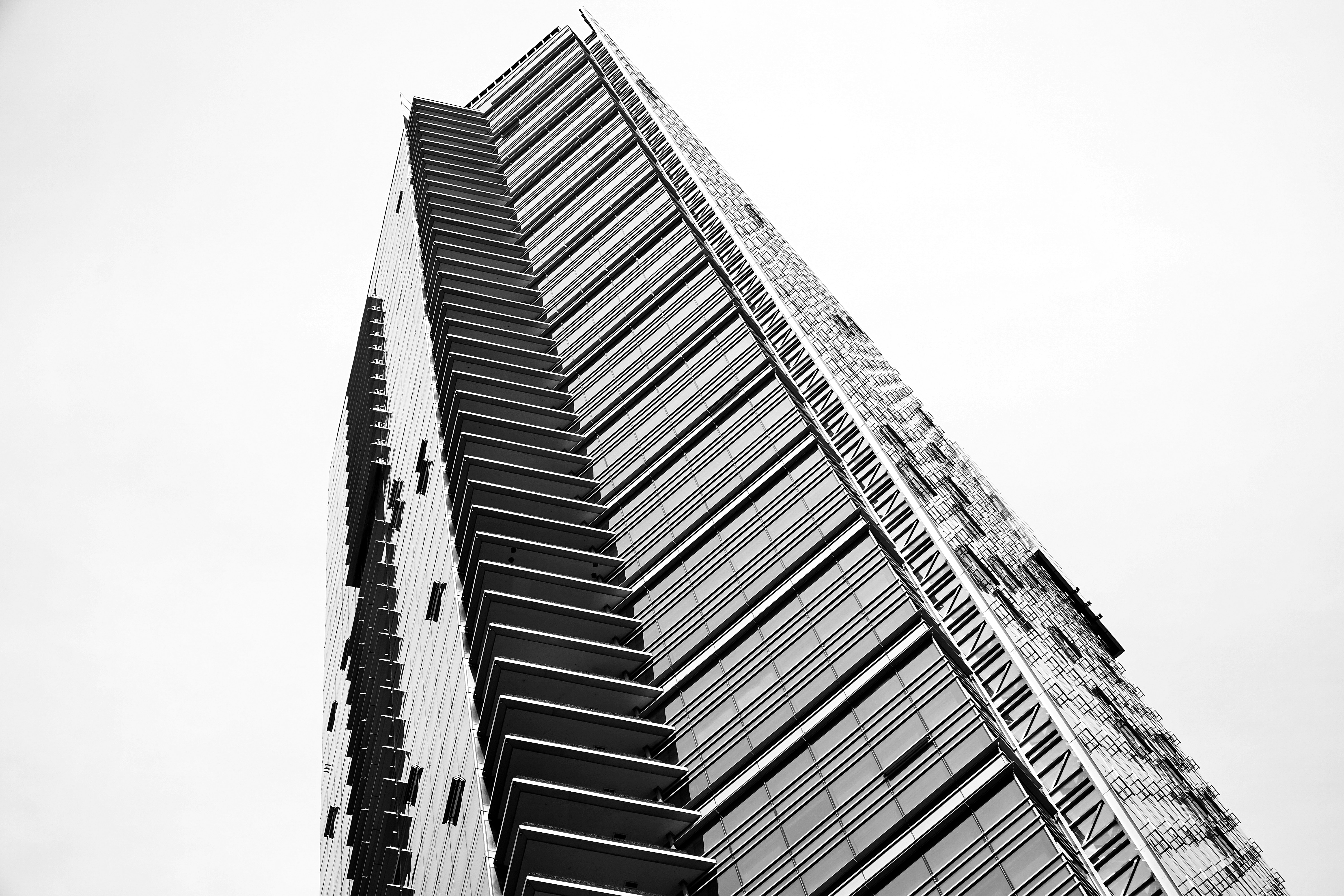 low angle photograph of building