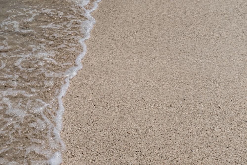 ocean wave on seashore