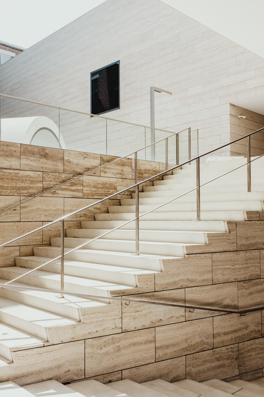 beige concrete stair