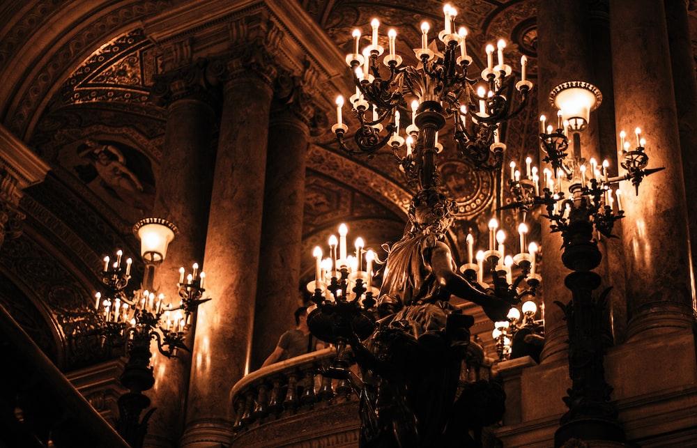 gold downlight chandelier