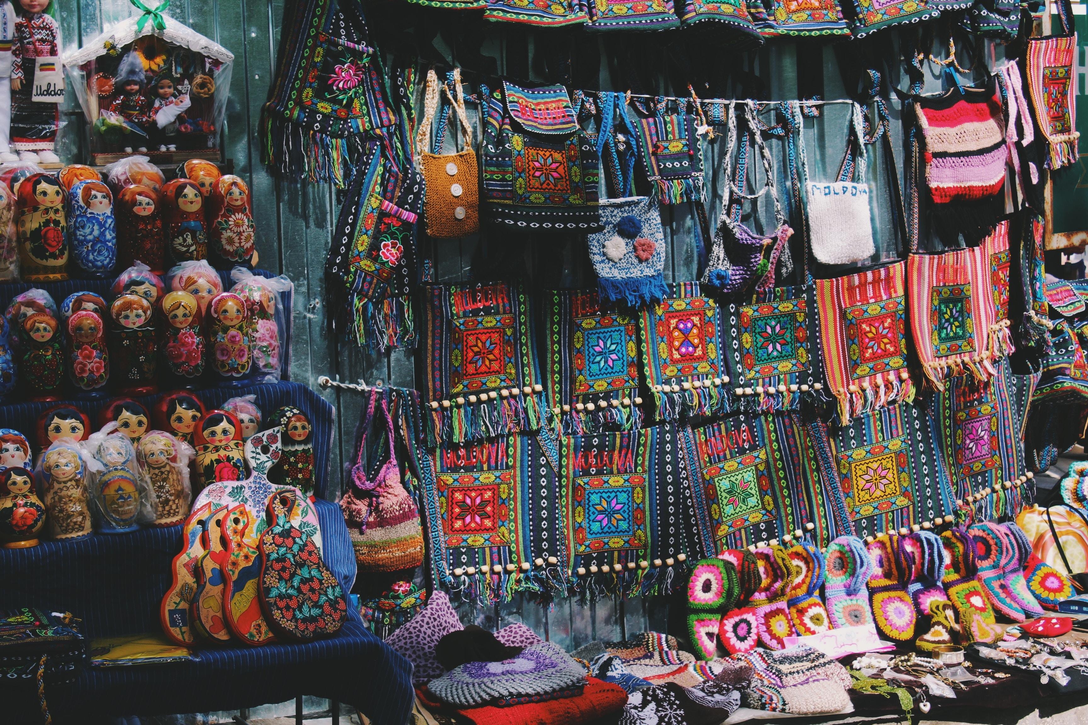 assorted-color crossboy bag