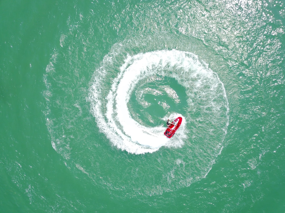 Wanted to see what a spinning jet ski looks like from above! Bear lake has some crazy looking blue water so we thought we would add some action to it.