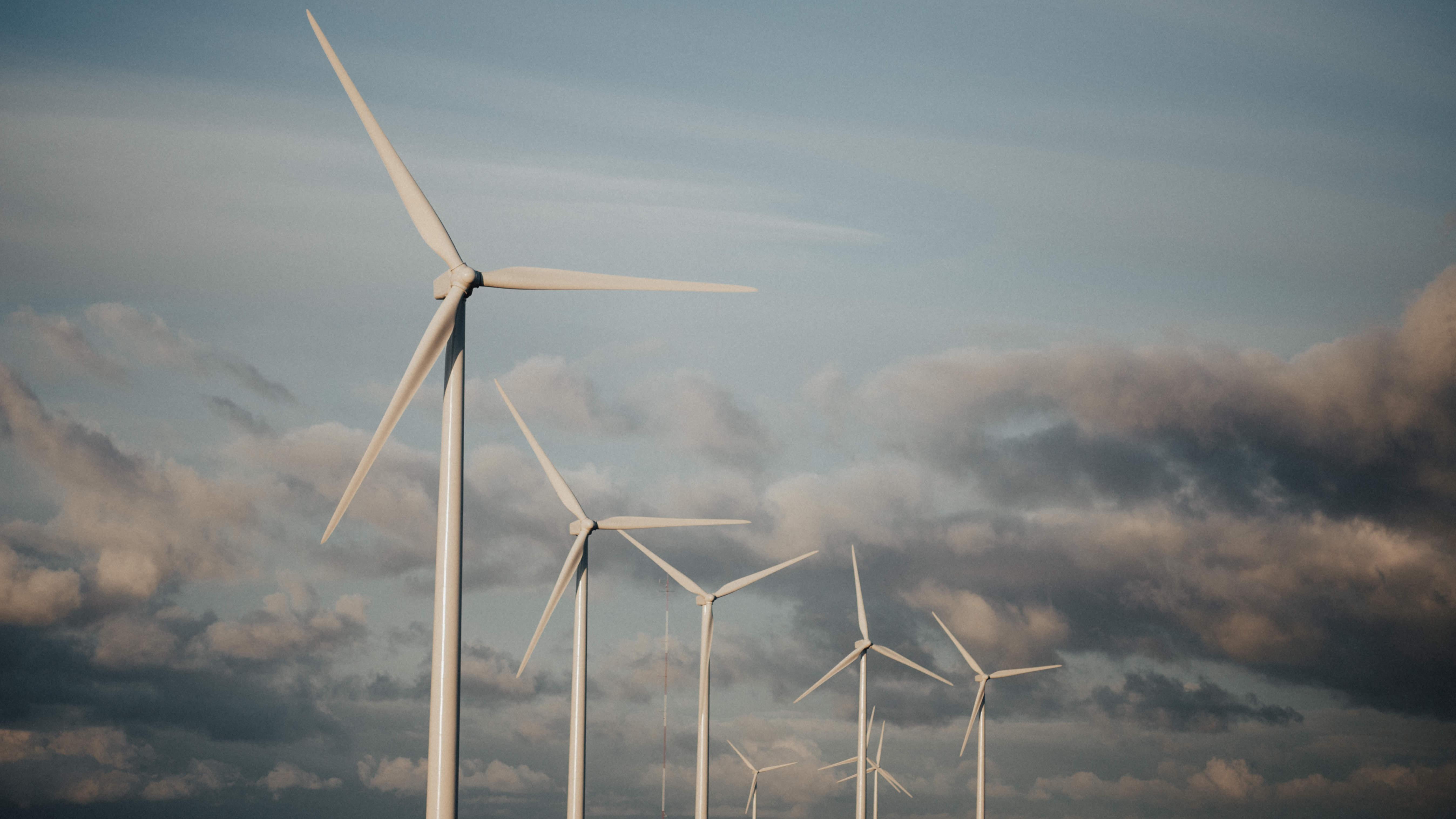 several windmills
