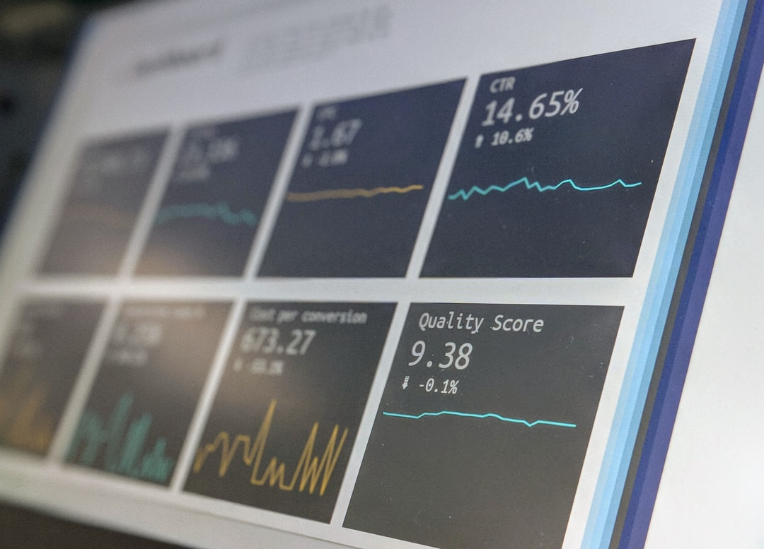 Data reporting dashboard on a laptop screen